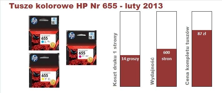 hp 3525 tusz kolor 201302